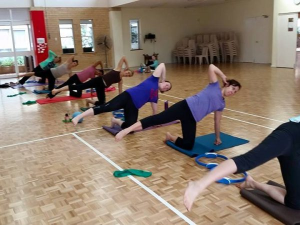 Core strength work in clinical pilates